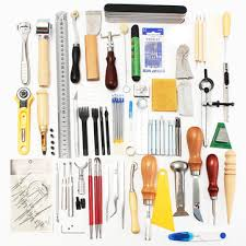 59 pieces leather craft tool kit for