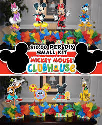 diy small mickey mouse birthday party