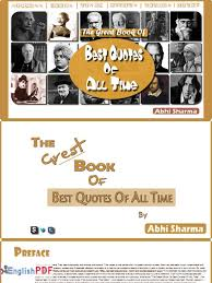 the great book of best quotes of all time pdf by abhi sharma