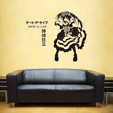 Date A Live Wall Decal Vinyl Wall Stickers Decal Decor Home Decorative Decoration Anime Car Sticker Wall Stickers Aliexpress