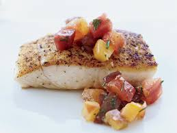 Pan-Seared Halibut with Tomato ...