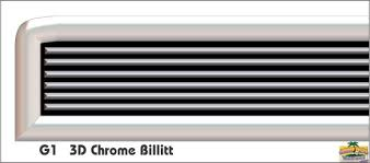 G1 Chrome Billitt Grill Decal Golf Car Graphic Kit Grill Kits