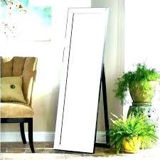 target wood full length mirror floor