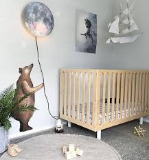 Wow Our Sleepy Moon Wall Lamp Combined With Our Bear Wall Decal In A Littledwellings Kids Room Hurray W Kids Room Inspiration Bear Wall Decal Baby Showrooms