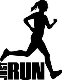 Runner Decal Just Run Running Girl Jogger Fitness Window Bumper Sticker Car Ebay