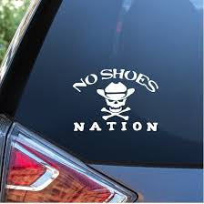 No Shoes Nation Kenny Chesney Window Decal Sticker Custom Sticker Shop