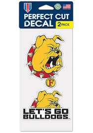 Ferris State Bulldogs 4x4 Set Of 2 Auto Decal Red 57100942