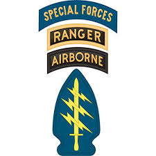 Us Army Special Forces W Ranger Airborne Tabs Decal Sticker 3 8 Walmart Com Walmart Com