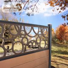 China Uv Insert Resistant Easy To Install Outdoor Luxurious Wpc Carving Decorative Garden Border Fence For Yard China Fencing For Villa Garden Fence