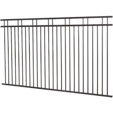 Protector Aluminium 2450 X 1200mm Custom Double Top Rail 2 Up 2 Down Pool Fence Panel