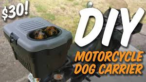 homemade motorcycle dog carrier under