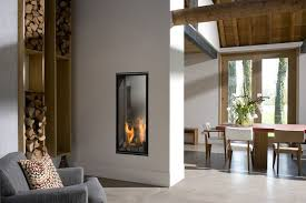 gas fireplace double sided closed