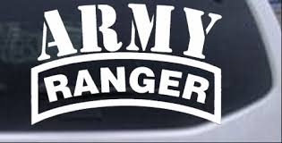 Army Ranger Car Or Truck Window Decal Sticker Rad Dezigns
