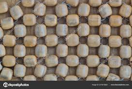 Rustic Rough Wood String Beads Car Seat Cover Myrtle Wood — Stock Photo ©  Stroppy1 #231915822