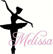 Amazon Com Dance Wall Decal Personalized Ballerina With Name For Baby Girl Nursery Or Teen Girls Room Vinyl Wall Art 22 Inches Home Improvement