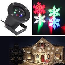 led laser snow projector lights