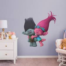 Fathead Poppy And Branch Giant Officially Licensed Trolls Removable Wall Decal Walmart Com Walmart Com