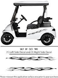 Golf Cart Vinyl Graphic Decals F103 Set Of 2 Shop Vinyl Design