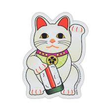 Japanese Maneki Neko Cute Beckoning Cat Funny Vinyl Decal Sticker Rainbowlands Lk