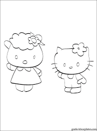 Kleurplaat Met Hello Kitty En Fifi Gratis Kleurplaten