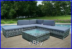 6 piece rattan garden furniture patio