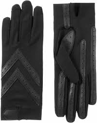 suede gloves with gathered wrist