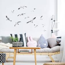 Watercolor Seagulls Bird Wall Decals Plastic Free Kids Room Etsy