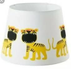 Ikea Trollakulla Lamp Shade White Tiger Theme Children S Kids Room Ebay