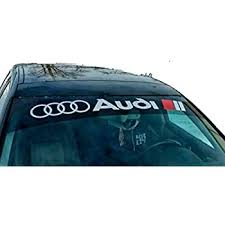 Amazon Com Gy Vinyl Arts Quattro Windshield Decal Car Sticker Banners Graphics Automotive