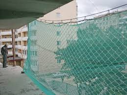 Plastic Safety Netting With Knitted Mesh Special Method Is Used