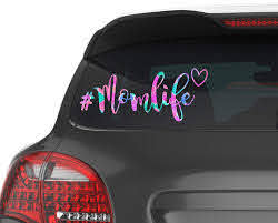 Amazon Com Mom Life Car Decal Momlife Yeti Sticker Laptop Decal For Women Your Choice Of Size And Pattern Handmade