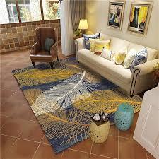 Best Price 19a9e Abstract Living Room Carpets Gold Leaf Hallway Bedroom Decorative Kids Play Carpet Anti Slip Area Rug Floor Children Room Mats Cicig Co