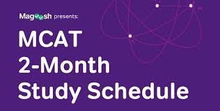 mcat study schedule 2 months magoosh
