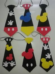 Corbatas De Mickey En Foami Cotillones Con Imagenes Fiestas