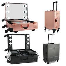 makeup case cosmetic travel wheeled