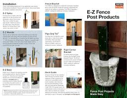 Diy E Z Fence Post Products Diy C