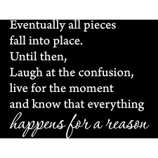 Matte White 22 X 18 Eventually All Pieces Fall Into Place Inspirational Quotes And Saying Vinyl Wall Art Home Decor Decal Sticker Walmart Com Walmart Com