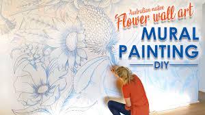 Australian Native Flowers Wall Art Mural Painting Youtube