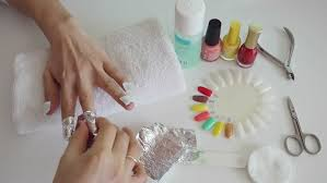 manicure process in salon cleaning