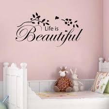 Life Is Beautiful Vinyl Wall Decal Quotes Home Decor Living Room Bedroom Diy Art Wallpaper Removable Wall Stickers Wall Sticker Removable Wall Stickerswall Decals Quotes Aliexpress