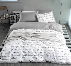 letter printing duvet cover sets king