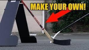 homemade hockey practice pad puck rebounder