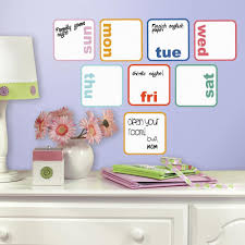 Days Of The Week Planner Dry Erase Peel And Stick Wall Decals Peel And Stick Decals The Mural Store