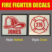 3 In Fire Fighter Helmet Maltese Cross Vinyl Decal Sticker For Yeti Rtic Tumbler
