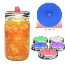 glass jar silicone sealed lid