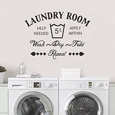 Decalmile Laundry Room Wall Decals Quotes Vinyl Removable Wall Stickers For Laundry Room Bathroom Amazon Com
