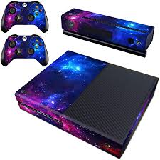 Amazon Com Decal Moments Xbox One Skin Set Vinyl Decal Skin Stickers Protective For Xbox One Console Kinect 2 Controllers Purple Galaxy Video Games