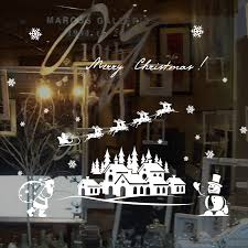 Waliicorners Merry Christmas Santa Claus Window Sticker Diy Vinyl Wall Stickers Elk Glass Decorations For Home Decor Art Decals Wallpaper Waliicorner S Store