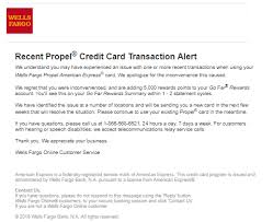 issue with wells fargo propel american