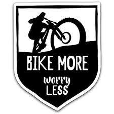 Amazon Com Bike More Worry Less Vinyl Decal Sticker Car Truck Van Suv Window Wall Cup Laptop One 5 25 Inch Decal Mks0843 Automotive